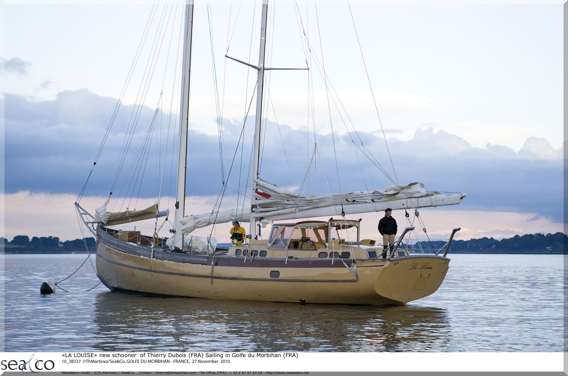 """LA LOUISE"" new schooner of Thierry Dubois (FRA) Sailing in Golfe du Morbihan (FRA)"